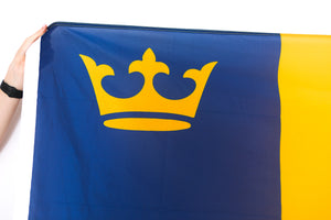 Close up of crown on Queens flag