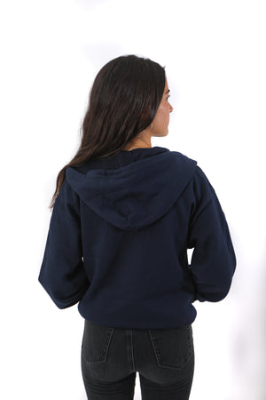 Black of sweater, completely blue