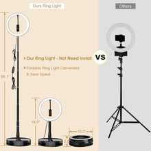 "Load image into Gallery viewer, 10"" Stretchable LED Ring Light with Stand - iyougood"