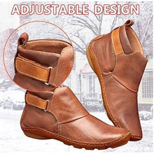 Load image into Gallery viewer, Women Comfy Daily Adjustable Leather Booties