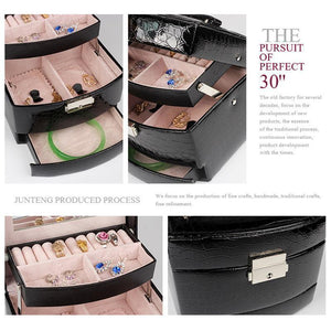 (Hot selling 50,00 items)3-Layer Leather Organizer-Free Shipping