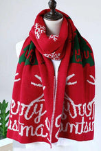 Load image into Gallery viewer, Chicyaya Merry Christmas Print Knit Scarf (3 Colors)
