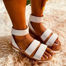 Load image into Gallery viewer, 2020 NEW Double Strpes Bohemian Sewing Plafrorm Sandals
