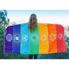 Load image into Gallery viewer, Seven Chakras - Thin Chakra Meditation Throw Just Superb Free Shipping