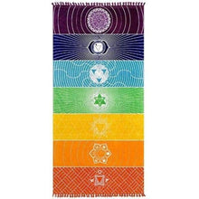 Load image into Gallery viewer, Seven Chakras - Thin Chakra Meditation Throw Multicolor / One Size Just Superb Free Shipping