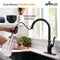 APPASO 175ORB Single Handle Antique Kitchen Faucet Oil Rubbed Bronze High Arc Magnetic Docking