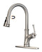 APPASO 133BN Pull Down Kitchen Faucet Brushed Nickel with Magnetic Docking Sprayer