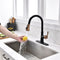 APPASO 133BRG Pull Down Kitchen Faucet Black & Rose Gold Magnetic Docking Sprayer with Soap Dispenser