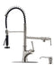 APPASO 139BN Commercial Spring Kitchen Faucet Brushed Nickel Pot Filler with Soap Dispenser
