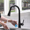 APPASO 243TL-MB Touchless Pull Down Smart Kitchen Faucet Modern Matte Black Motion Sensing Activated
