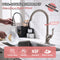 APPASO 157BN Kitchen Faucet Brushed Nickel with Pull Down Sprayer and Deck Plate
