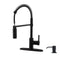 APPASO 163ORB Modern Spring Commercial Pull Down Kitchen Faucet Oil Rubbed Bronze with Soap Dispenser