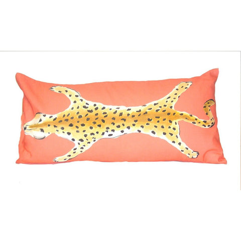 Dana Gibson Leopard Lumbar Pillow (Orange)