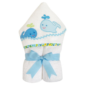 Three Marthas Whale Hooded Towel