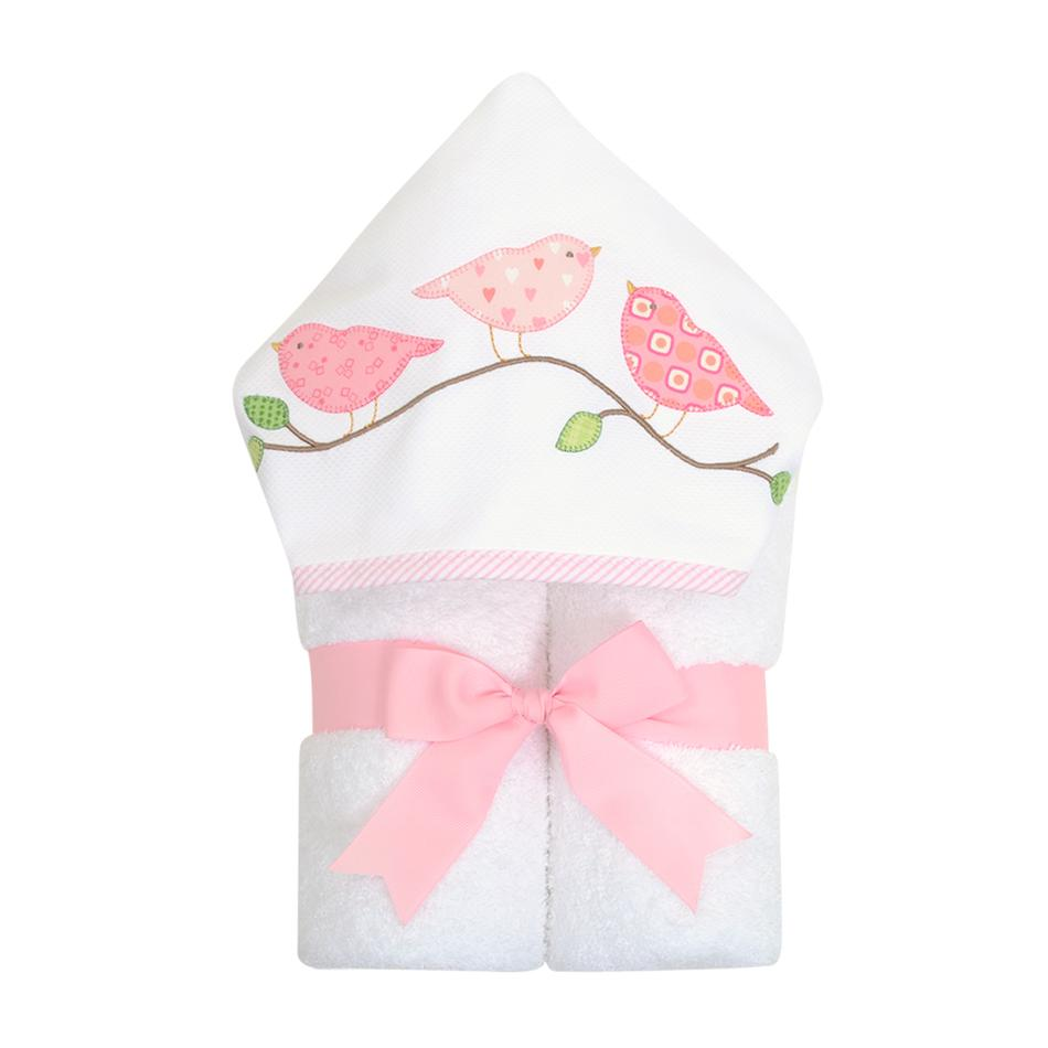 Three Marthas Bird Hooded Towel