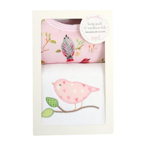 Three Marthas Bird Basic Bib & Burp Cloth Set