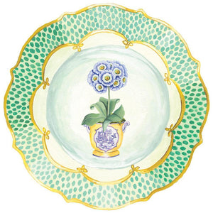 Caspari Primroses Die-Cut Placemats (Set of 4)