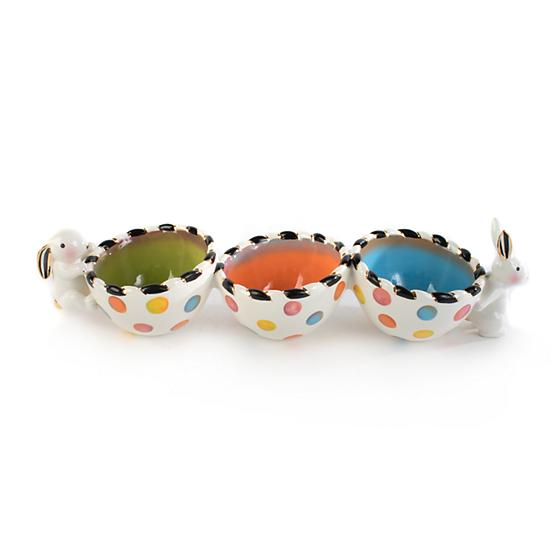 Mackenzie-Childs Dotty Triple Bowl