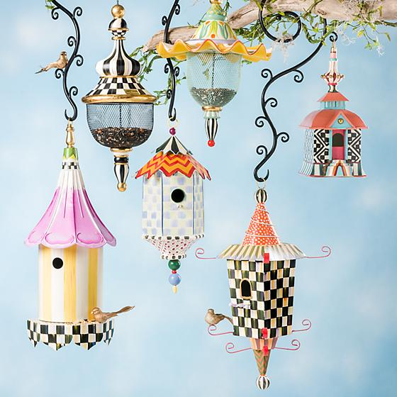 Mackenzie-Childs Pendant Bird Feeder (Courtly Check)