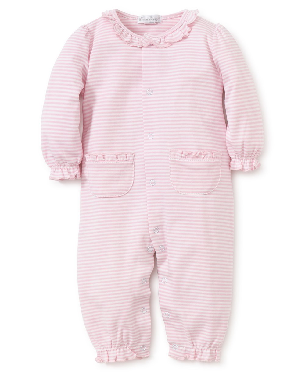 Kissy Kissy Simple Stripes Playsuit (Pink)