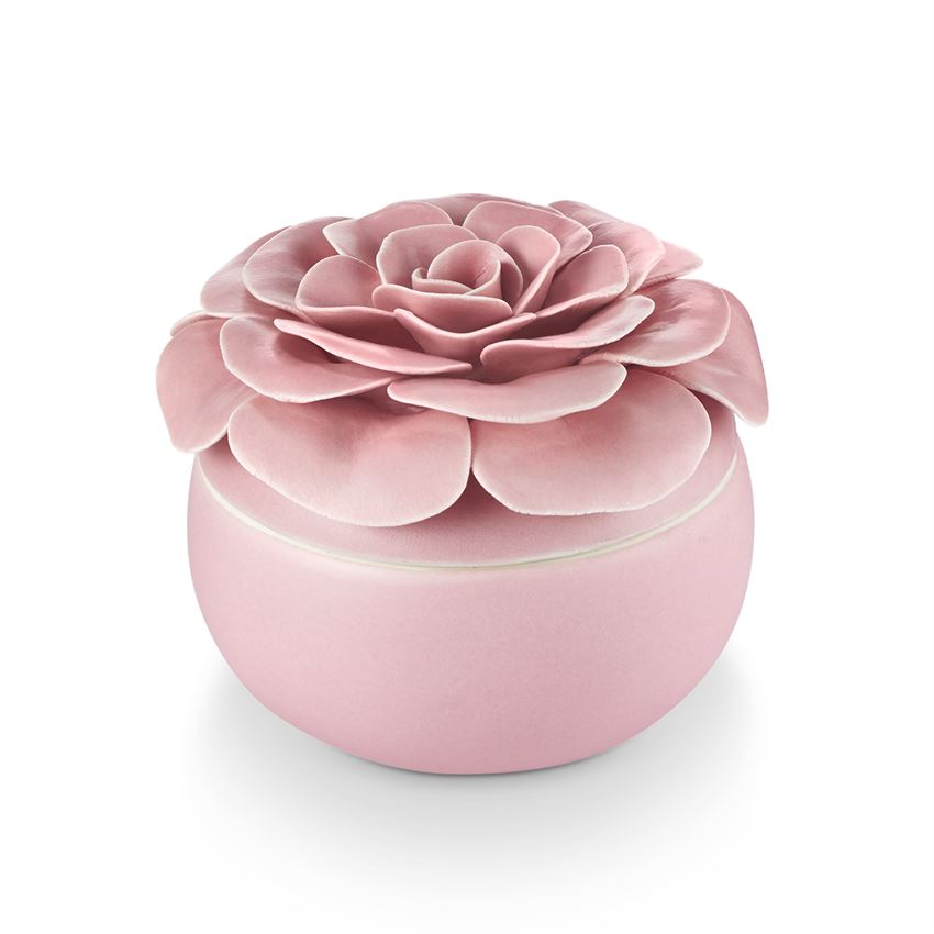 Illume Thai Lily Ceramic Flower Candle