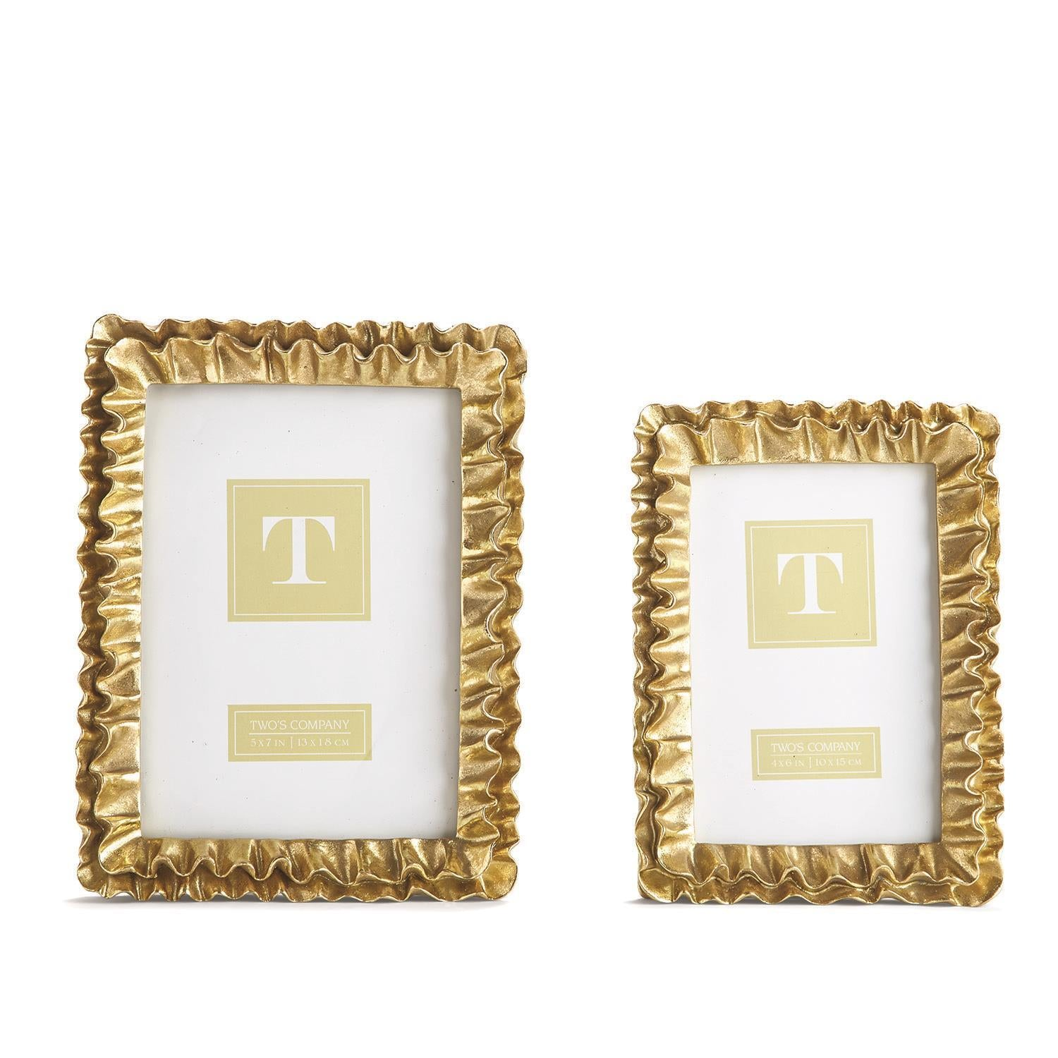 Gold Ruffle Frame (Multiple Sizes Available)