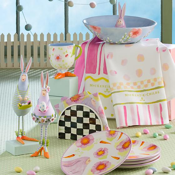 Mackenzie-Childs Easter Stripe & Dot Dish Towels (Set of 2)