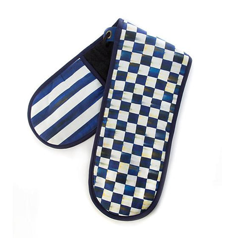 Mackenzie-Childs Royal Check Double Oven Mitt