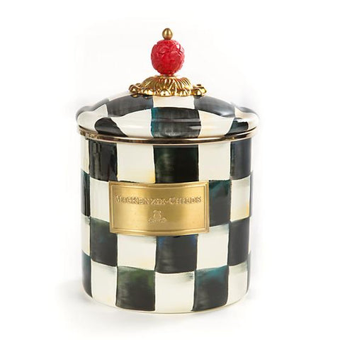 Mackenzie-Childs Courtly Check Enamel Canister (Small)