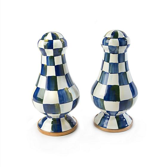 Mackenzie-Childs Royal Check Large Salt & Pepper Shakers