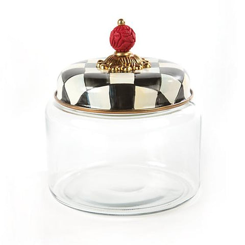 Mackenzie-Childs Courtly Check Kitchen Canister (Small)