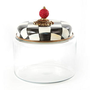 Mackenzie-Childs Courtly Check Kitchen Canister (Medium)