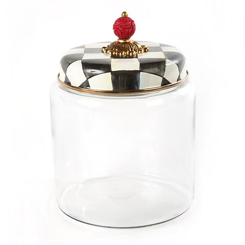 Mackenzie-Childs Courtly Check Kitchen Canister (Large)
