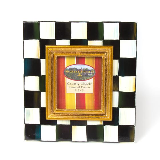Mackenzie-Childs Courtly Check Enamel Frame (2.5x3)