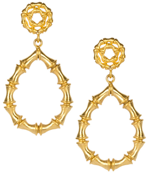Lisi Lerch Kate Earrings (Gold Bamboo)