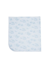 Blue Toile Baby Blanket