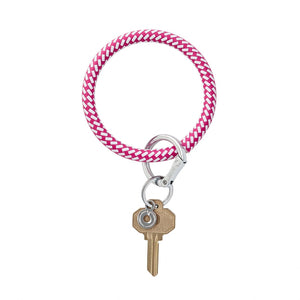Big O Leather Key Ring (Tickled Pink Riviera)