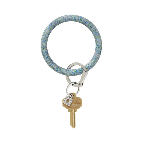 Big O Silicone Key Ring (Blue Frost Confetti)