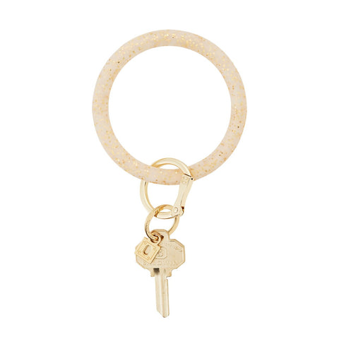 Big O Silicone Key Ring (Gold Confetti)