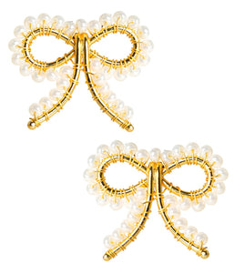 Lisi Lerch Little Bow Earrings (Pearl)