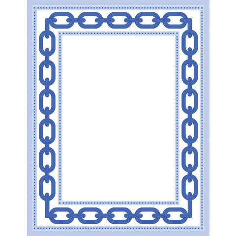 WH Hostess Blue Chain Link Border Notepad
