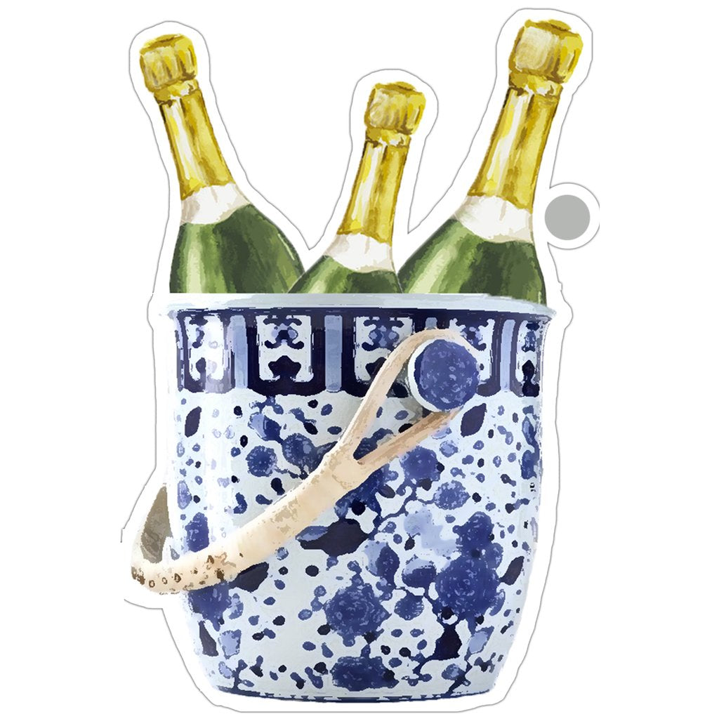 WH Hostess Champagne Bucket Die-Cut Gift Tags