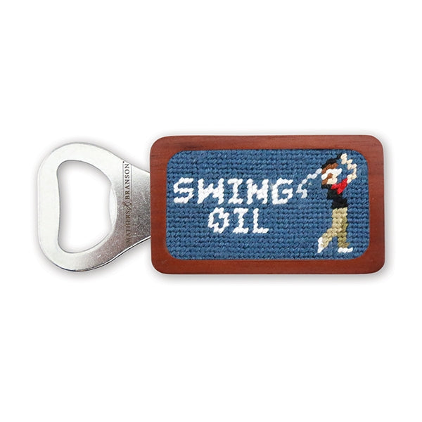 Smathers & Branson Swing Oil Needlepoint Bottle Opener