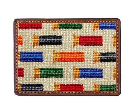 Smathers & Branson Rainbow Shotgun Shells Needlepoint Card Wallet