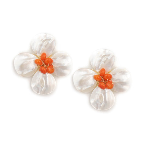 Hazen & Co. Poppy Earring (Tangerine)