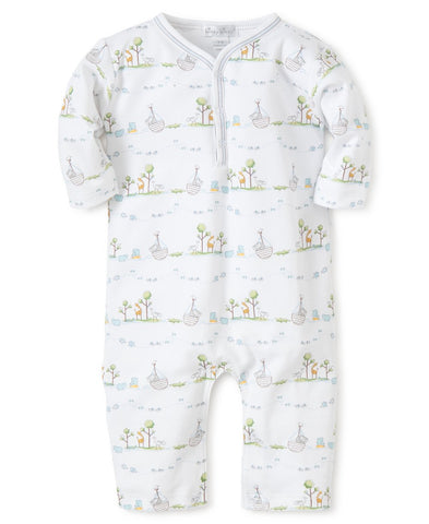 Kissy Kissy Noah's Print Playsuit (Blue)
