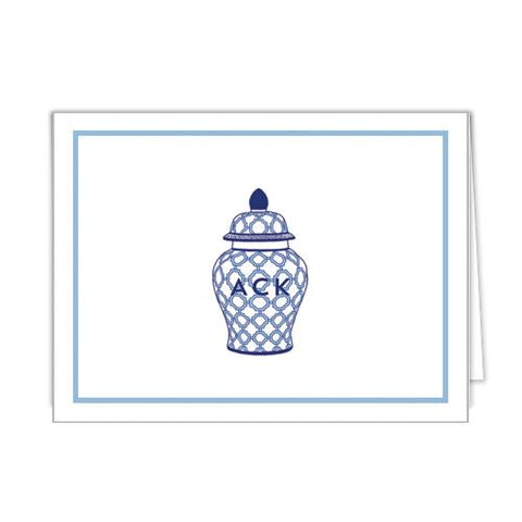 WH Hostess Geometric Ginger Jar Folded Notecards
