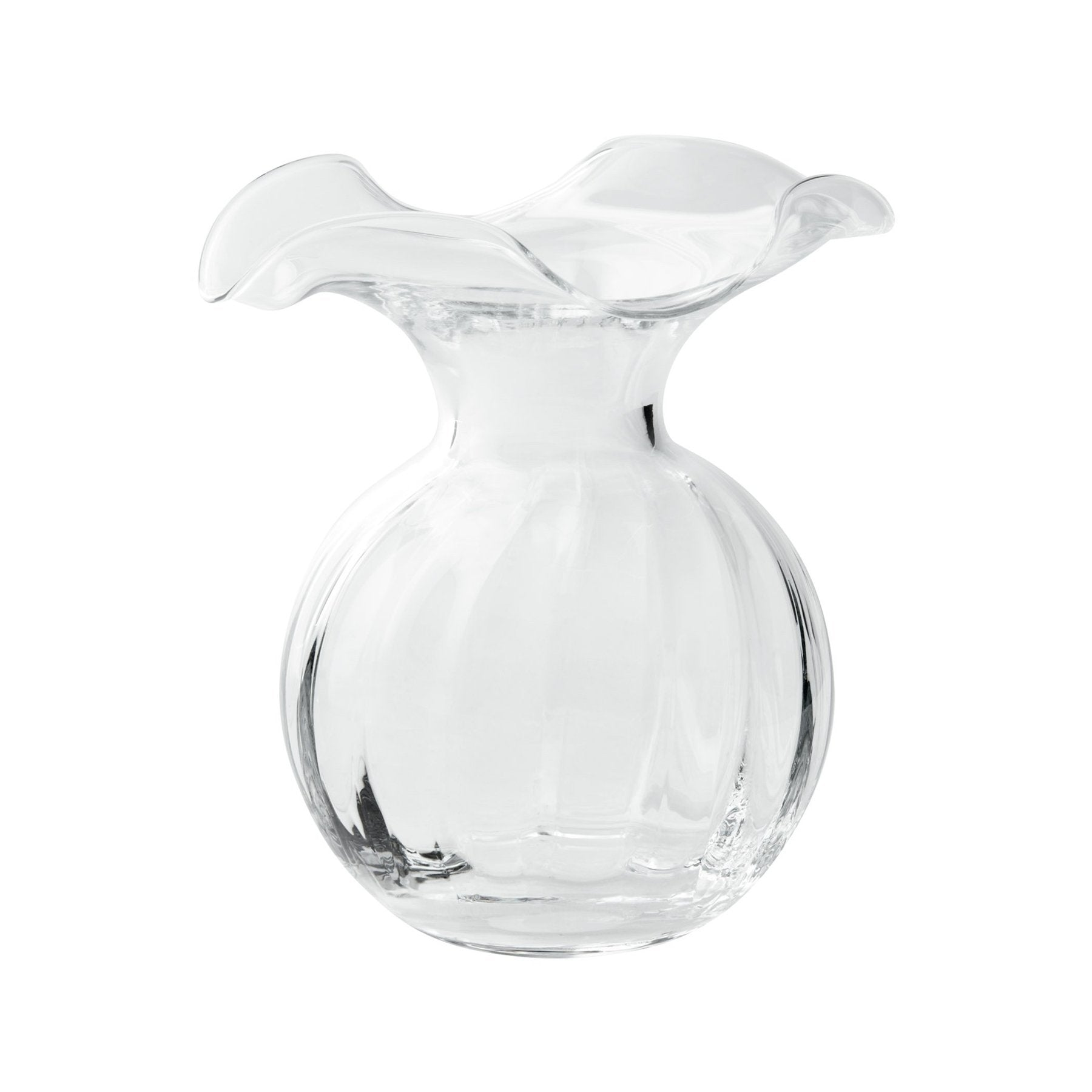 Vietri Hibiscus Clear Small Vase