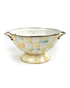Mackenzie-Childs Parchment Check Colander (Large)