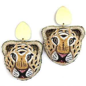 Allie Beads Tiger Earrings